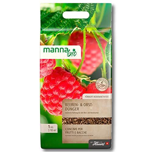 Hauert Manna Bio Baies Engrais Fruits 1kg Beerenpflanzen Beeredünger Fruits Jardin
