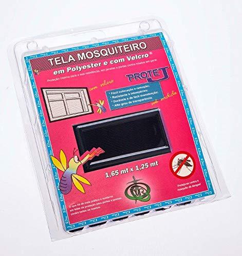 Tela Mosquiteiro Com Velcro Protej Preta