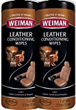 Weiman Leather Wipes - 2 Pack - Clean Condition UV Protection Help Prevent Cracking or Fading of Leather Furniture, Car...