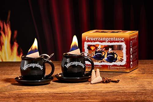 Feuerzangentasse 2er-Set, Schwarz (mit Rum) - für Feuerzangenbowle