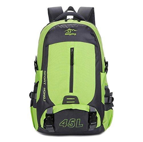 45L à dos en nylon Couple extérieur Alpinisme Sac de sport grande capacité Sac à bandoulière , green