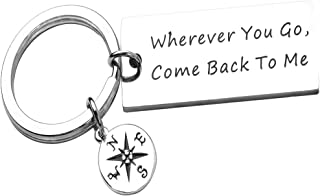 Wherever You Go, Come Back to Me, Hand Stamped Keychain,Bracelet, Graduation Gift, Moving Away Gift, College Gift, Gift for Him