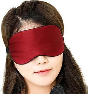 Asdfnfa (Two Pairs) Silk Eye Mask Sleep Shading Breathable Men and Women Sleeping Eye Mask to Alleviate Eye Fatigue asdfnfa (Color : Red)