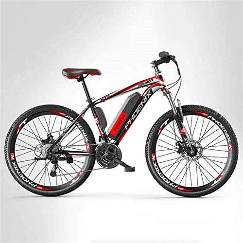 ZMHVOL Ebikes, Adult Mens Mountain Electric Bike, 250W Electric Bikes, 27 speed Off-Road Electric Bicycle, 36V Lithium Battery, 26 Inch Wheels ZDWN (Color : A, Size : 8AH)