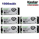 Kastar HHR-P105 Battery (5-Pack), Type 31, NI-MH Rechargeable Cordless Telephone Battery 2.4V 1000mAh, Replacement for Panasonic HHRP105 HHR-P105 HHRP105A HHR-P105A KX242 KX-242 KX2420 KX-2420 KX2421 KX-2421 KX2422 KX-2422 KXTG5779 KX-TG5779 Dantona BATT105 BATT-105 Empire CPH508 CPH-508 GE 86420 Lenmar CB0105 CB-0105 Avaya 3920 Interstate ATEL0014, TEL0014, TEL-0014