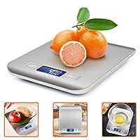 Photo Gallery ikalula bilancia da cucina digitale, alta precisione misurazione 1g a 5kg bilancia digitale lcd display multifunzionale bilancia da cucina elettrica (2 batterie incluse)