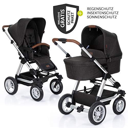 ABC Design Kombi-Kinderwagen Viper 4 mit Lufträdern - inkl. Babywanne, Sportsitz und XXL Zubehörset - Piano