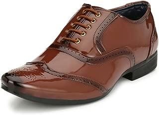 SHOE DAY Men's Artificial Leather Brogue Shoe
