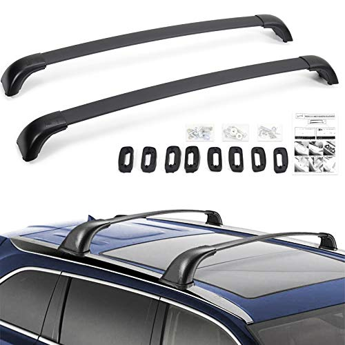 Haitzu Roof Rack Fit for Toyota Highlander 2015-2019 Including Hybrid LE Limited XLE LE+ XLE, 2017-2018 SE w/Instruction, Roof Rail for Cargo Carrier Rooftop Luggage Bike Rack
