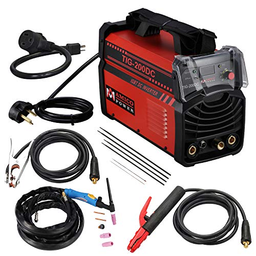 TIG-200DC, 200 Amp TIG Torch ARC Stick DC Welder 110/230V Dual Voltage Welding...