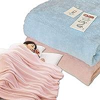 メーカー直販 今治タオルケット ダブル 180×230cm 日本製 無地 パイルが抜けにくい 洗える 綿マイヤー織り 今治タオルブランド認定 (ピンク)