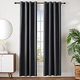 Amazon Basics - Juego de cortinas que no dejan pasar la luz, con ojales, 168 x...