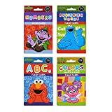 Pack of 4 Sesame Street Educational Flash Cards for Early Learning. Set includes Colors, Shapes & More, ABCs, Numbers and Beginning Words