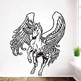 sanzangtang Kreative Pegasus Wandaufkleber Wohnzimmer Wandbilder Kinderdekorationen Wandaufkleber Aufkleber Wandbilder,