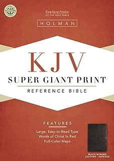 Best kjv super giant print bible black genuine leather indexed Reviews