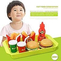 遊ぶふりをするハウスシミュレーションキッチンフードハンバーガー西洋ピザコンビセットおもちゃ認知児童教育ギフト