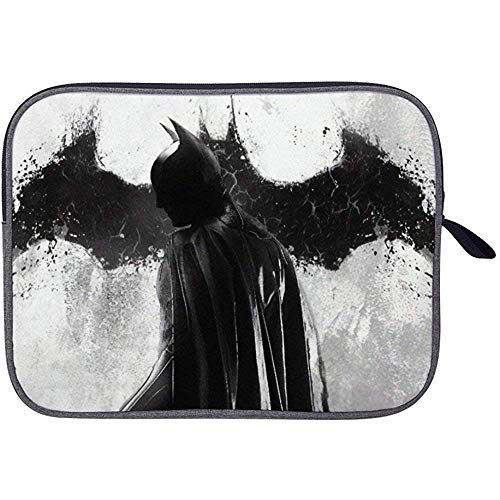Bat-Man Monocromo Funda para Computadora Portátil Funda para Bolsa Funda para Tableta Maletín Bolsa De Transporte para Macbook Pro/Macbook Air/Notebook De 15 Pulgadas
