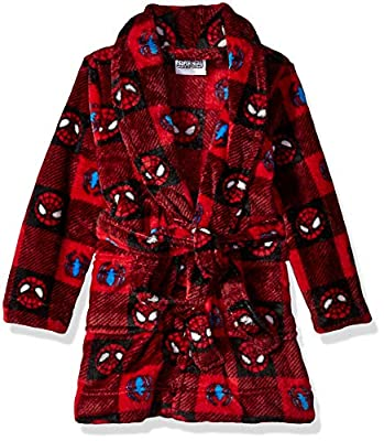 Marvel Boys' Toddler Spiderman Luxe Plush Robe