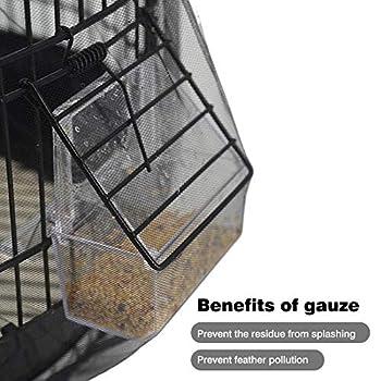Draulic Bird-Cage Housse de protection anti-poussière en maille filet de nylon pour cage d'oiseaux Longueur 30-45 cm