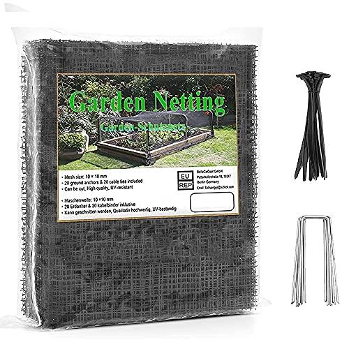 Vogelnetz 10 × 4M Baum netz Vogelschutznetz Hühnernetz Wiederverwendbares extra starkes Kunststoff-Gartennetz Teichnetz von Pflanzen und Obstbäumen, Dauerhaft gegen Eichhörnchen, Tauben, Hirsch, Vögel
