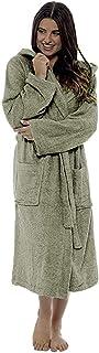 a03ece86ddd80 KEERADS Peignoir Femme Velours Robe de Chambre Polaire Chaud Long Flanelle  Peignoir de Bain Homme Eponge