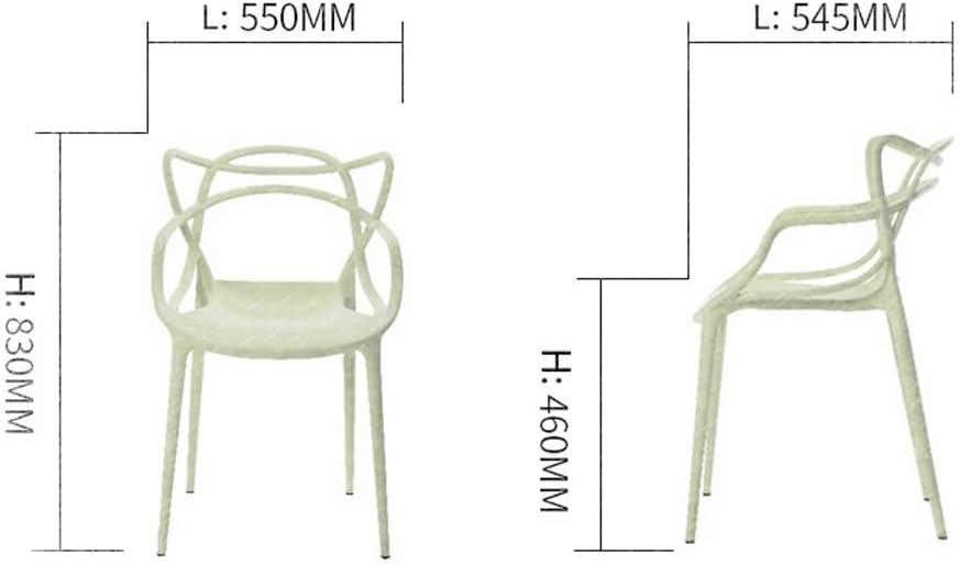 HWL Chaise de dossier Nordic Minimalist Conference Room Café Tabouret Home Épaissie Plastique Table de Chaise Chaise (Color : Light yellow) Grey