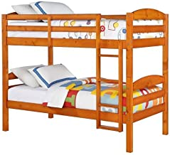 Better Homes and Gardens Leighton Twin Over Twin Wood Bunk Bed (1.Pine)