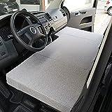 KFoam.es Colchón Plegable Cama Delantera Camper para Volkswagen T4, T5 y T6 (Transporter, Multivan, Caravelle,...