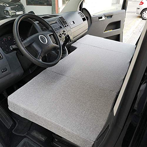 Colchón Plegable Cama Delantera Volkswagen T4, T5 y T6 (Transporter, Multivan, Caravelle, California Beach, Eurovan)