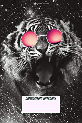 Composition Notebook: Sunglasses Tiger Primary Story Journal Composition Notebook For Grades