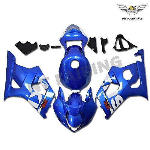 NT FAIRING Light Blue Injection Mold Fairings Fit for Suzuki 2003 2004 GSXR 1000 K3 03 04 GSX-R1000 Aftermarket Painted Kit ABS Plastic Motorcycle Bodywork
