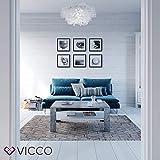 VICCO Couchtisch Beton Weiß 100 x 60 cm Wohnzimmertisch Beistelltisch Sofatisch Kaffeetisch - 4