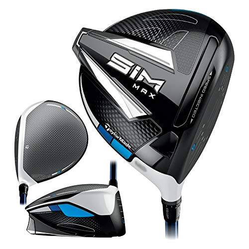 TaylorMade SIM MAX Driver, Fujikura Ventus Blue 6 Shaft, 9.0 Degree Loft, Right Hand, X-Stiff Flex