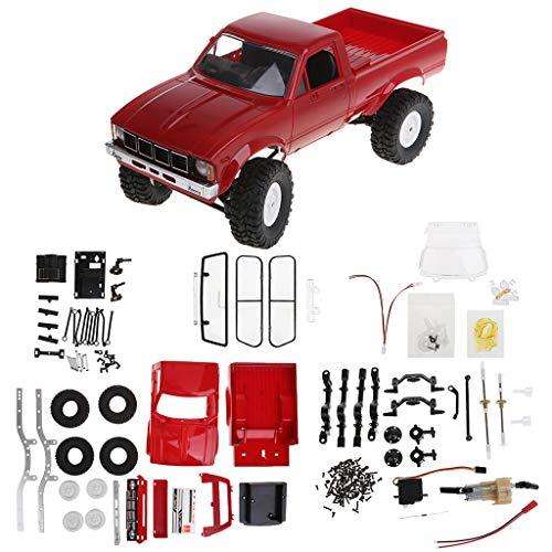 GUSENG WPL C24 2.4G DIY RC Climbing Truck Car KIT 4WD Remote Control Crawler Off-Road Buggy Moving Machine Kids Toys