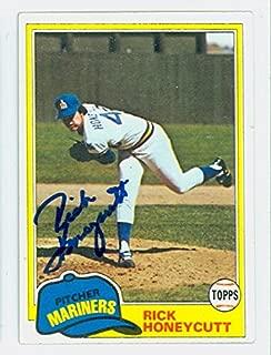 Rick Honeycutt AUTOGRAPH 1981 Topps #33 Seattle Mariners
