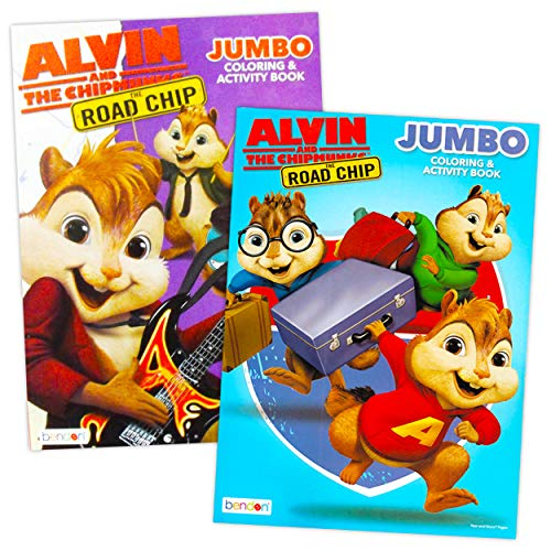 Bendon Publishing Alvin and The Chipmunks Chipwrecked Coloring and Activity Book Set ~ 2 Books, 96 Pages Each