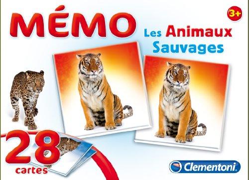 Clementoni - 62476 - Jeu Éducatif et Scientifique - Memo Games - Les Animaux Sauvages