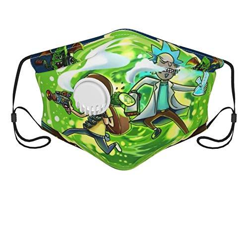 custom made Rick und Mor Flock Bandanas Gesichtsmaske UV Protectio Halsmanschette Stirnband - Staubblock Sturmhauben