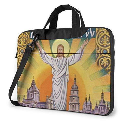 Christ is Risen Easter 1 Bolso Bandolera para Laptop, maletín para portátil con cinturón de Trolley