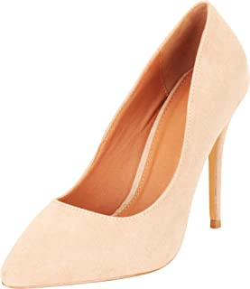 Cambridge Select Women's Classic Pointed Toe Slip-On Stiletto High Heel Pump