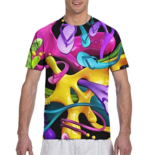 Color Ink Slippers Herren Cotton Classics Rundhalsausschnitt T-Shirts