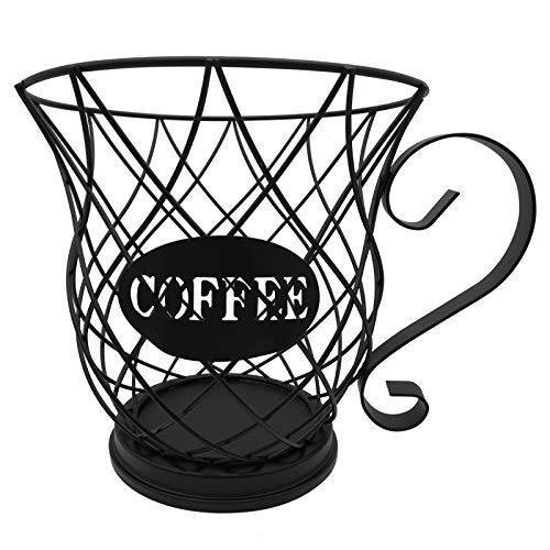 Hamnor K Cup Holder Mug Shape Coffee Pod Holder Coffee Pod Storage Organizer for Counter Coffee Bar, Coffee Pod Holder and Organizer Mug(Black)