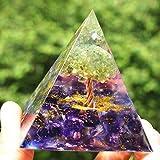 Albero della vita Peridoto Ametista Cristallo Orgone Piramide Pietra guarigione Chakra Meditazione