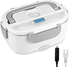 UUTO Electric Lunch Box, Portable Food Warmer for Car/Truck/Home with 304 Food Grade Stainless Steel Material-110V and 12V, 40W