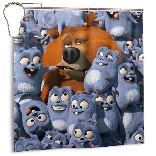 ZHENGYUAN Grizzy The Lemmings - Cortina de ducha de excelente tejido impermeable, antimoho, cortina de ducha, bañeras de baño, lavables 72 x 72 pulgadas