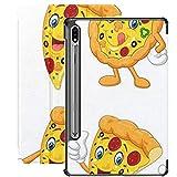 Funda para Galaxy Tab S7 Funda Delgada y Ligera con Soporte para Tableta Samsung Galaxy Tab S7 de 11 Pulgadas Sm-t870 Sm-t875 Sm-t878 2020 Release, Cartoon Funny Pizza Collection Set