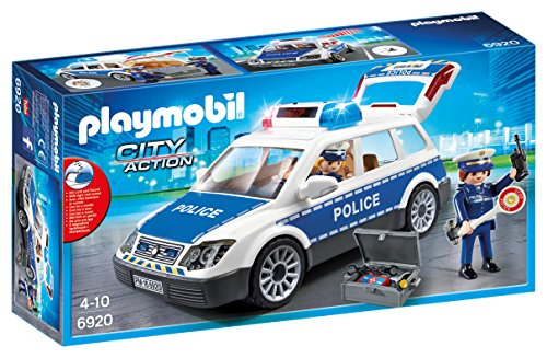 PLAYMOBIL City Action Police Car with Lights and Sound, from 5 Years (6920)