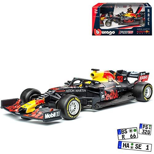 Red Bull RB15 Racing Max Verstappen Nr 33 Formel 1 2019 1/43 Bburago Modell Auto