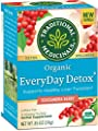 Traditional Medicinals Organic EveryDay Detox Tea, Supports Healthy Liver Function, (Pack of 6) - 96 Tea Bags Total by Traditional Medicinals