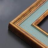 SK Studio Vintage Decoración de Madera de los Marcos imágenes Marco Formato de Imagen, Marco de Fotos para Decoracion de Casa Foto de Boda Fotos Azul bronce, 40x50cm